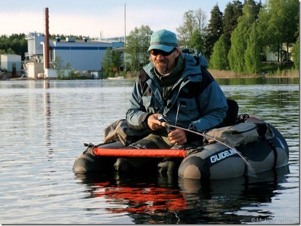Opbevaring af jigs i båd, flydering og fiskevest